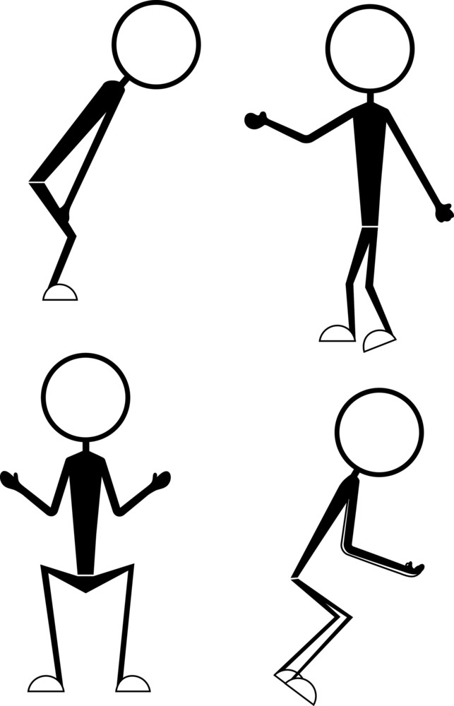 Cartoon Stick Figure Gestures And Poses
