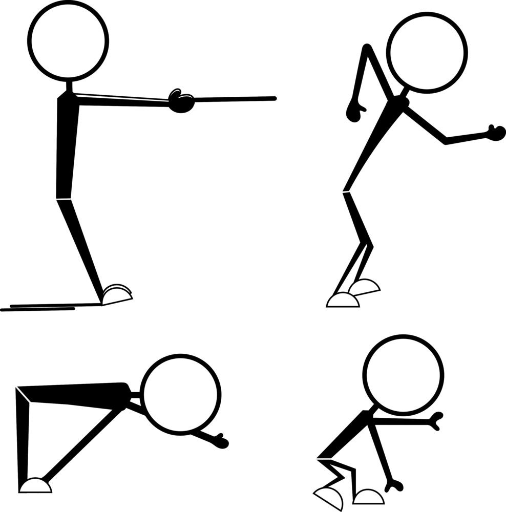 Cartoon Stick Figure Poses