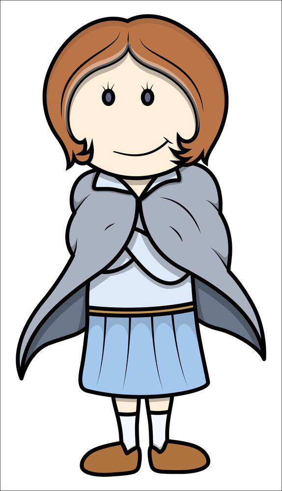Cartoon Teen Girl - Vector Cartoon Illustration