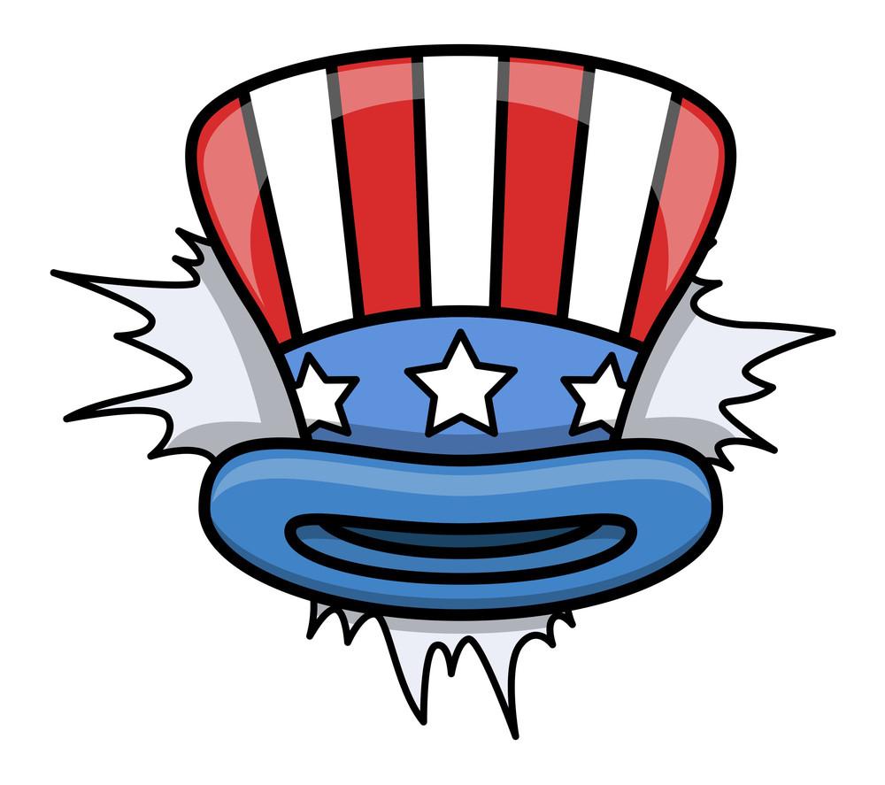 Cartoon Uncle Sam Hat