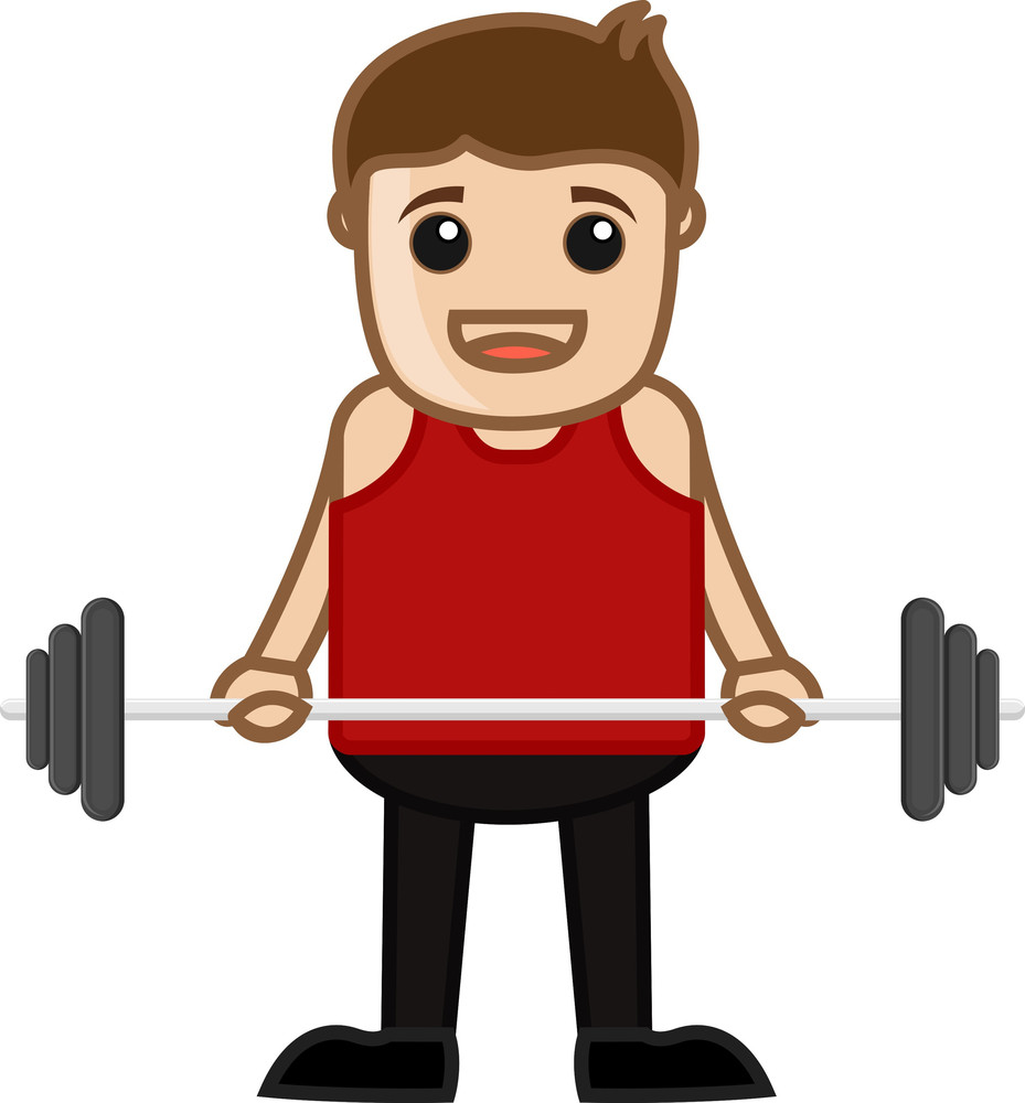 Cartoon Vector Character - Bodybuilder