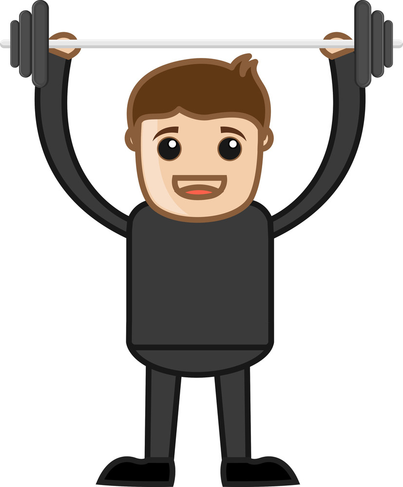 Cartoon Vector Character - Bodybuilding