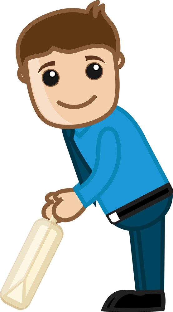 Cartoon Vector Character -  Cricket Player