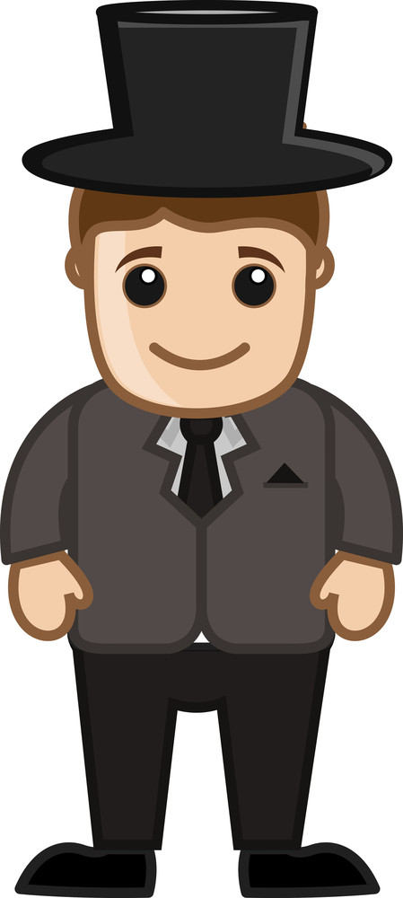 Cartoon Vector Character - Gentleman