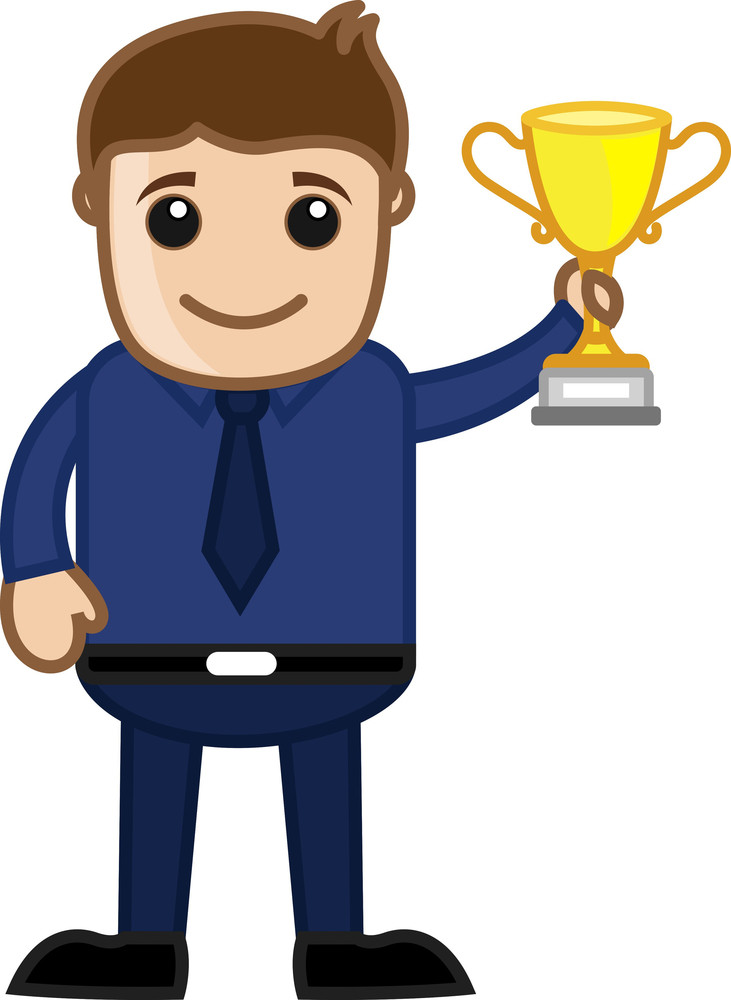 Cartoon Vector Character -  Winner