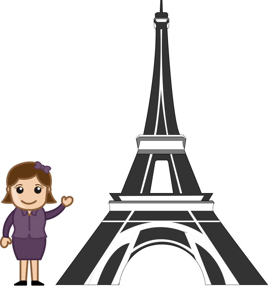 Vector eiffel tower royalty free stock image storyblocks subscription library cartoon vector girl eiffel tower thecheapjerseys Gallery