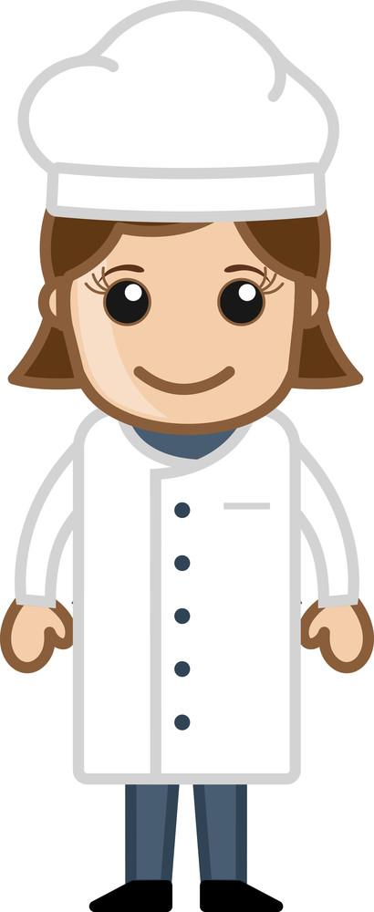Cartoon Vector - Lady Chef