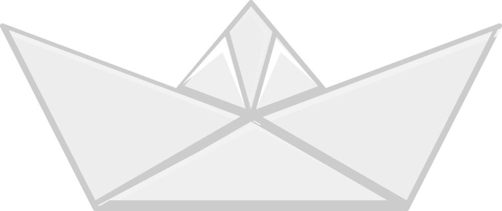 Cartoon Vector - Paper Origami Boat