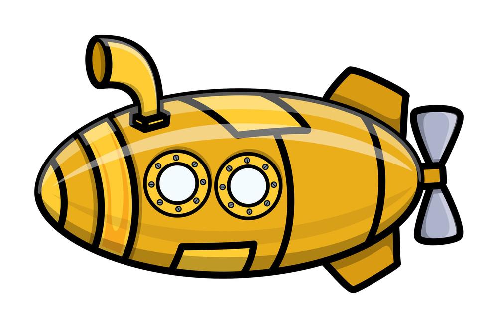 Cartoon Vector Submarine