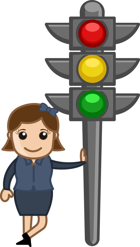 Cartoon Vector - Traffic Lights