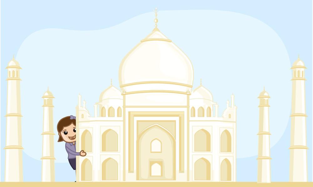 Cartoon Vector - Travel India