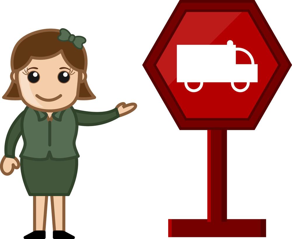 Cartoon Vector - Vehicle Signboard