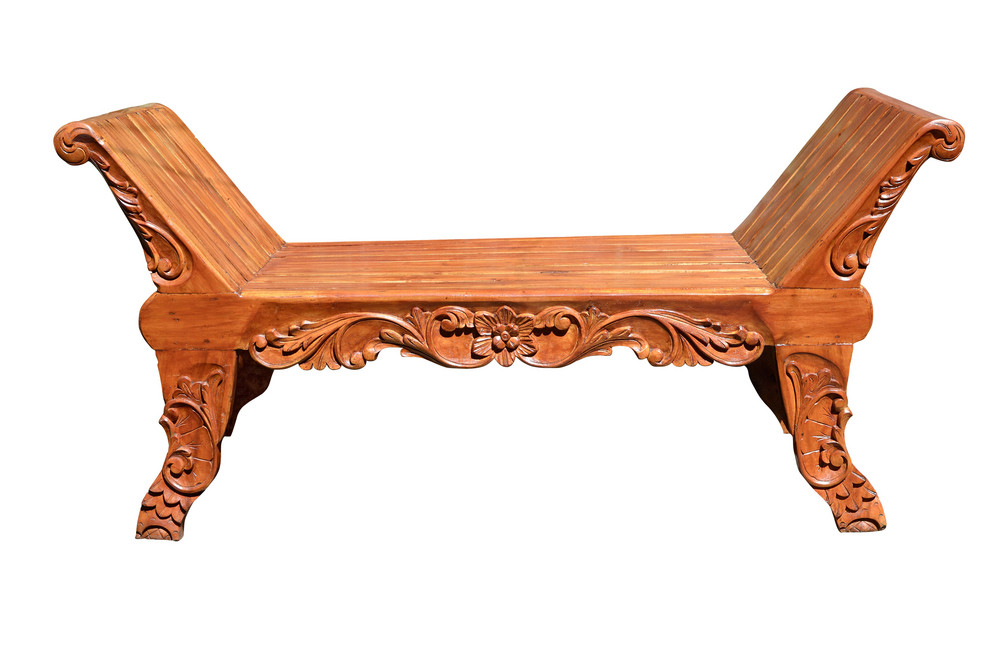 Carved-bench