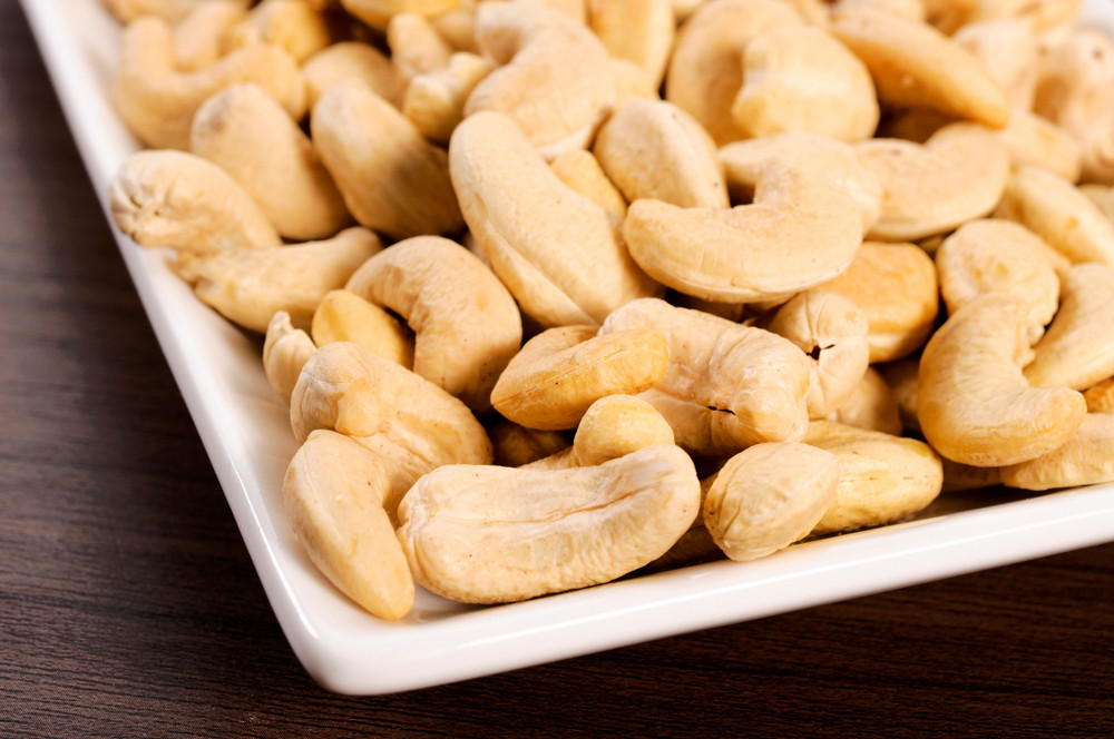 Cashews On Plate