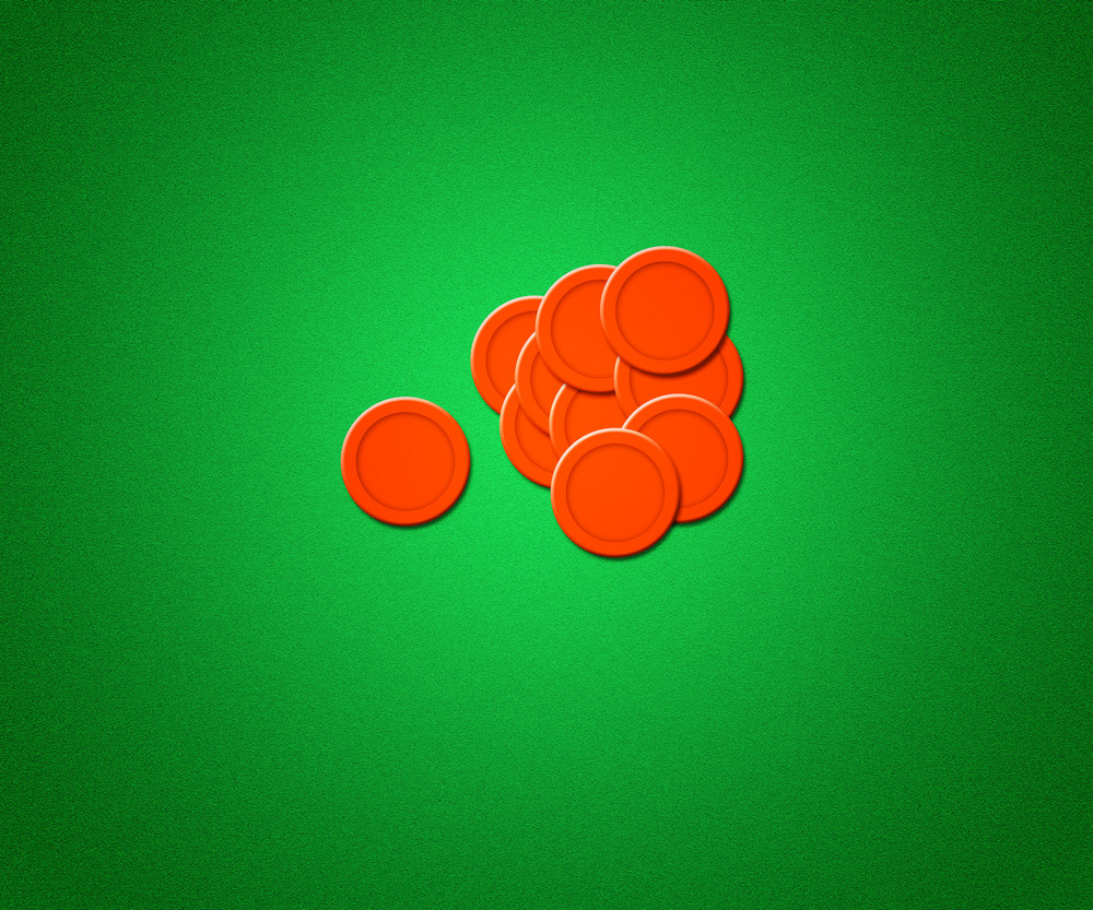 Casino Chips Background Green Texture