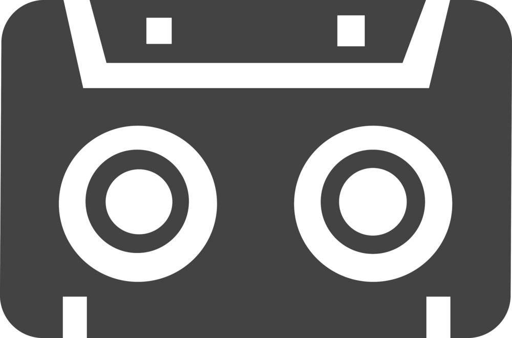 Cassette Glyph Icon