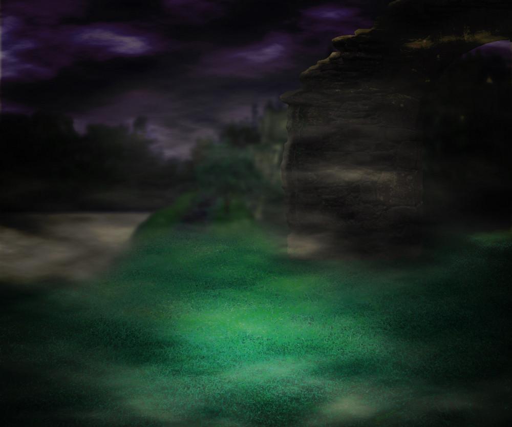 Castle Fantasy Night Backdrop