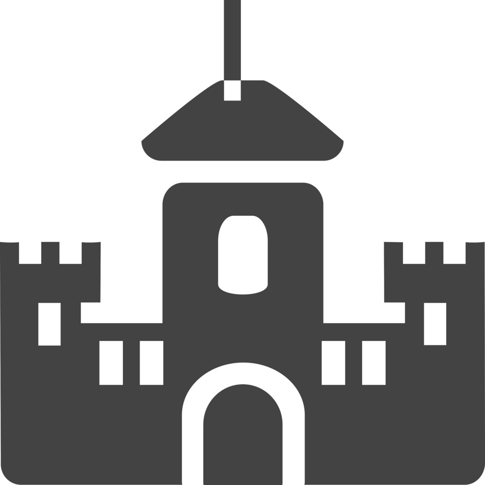 Castle Glyph Icon