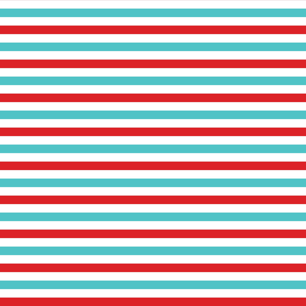 Blue And Red Striped Cat And Hat Pattern