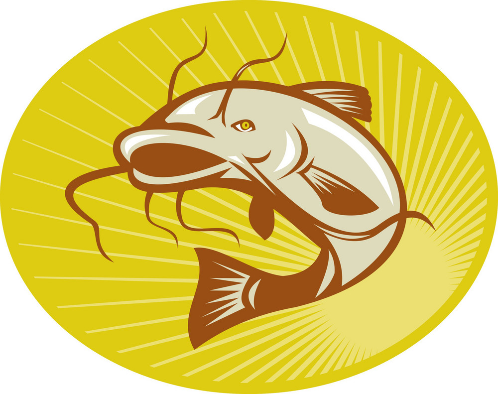 Catfish Jumping Retro