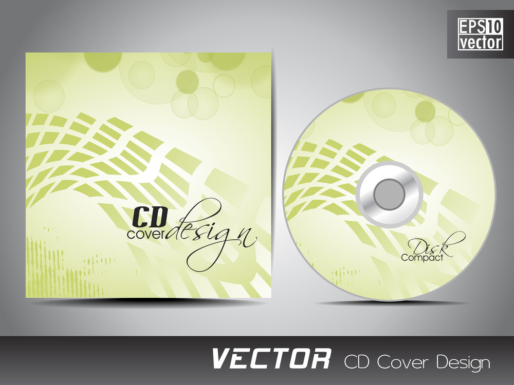 Cd Cover Design Template With Text Space.