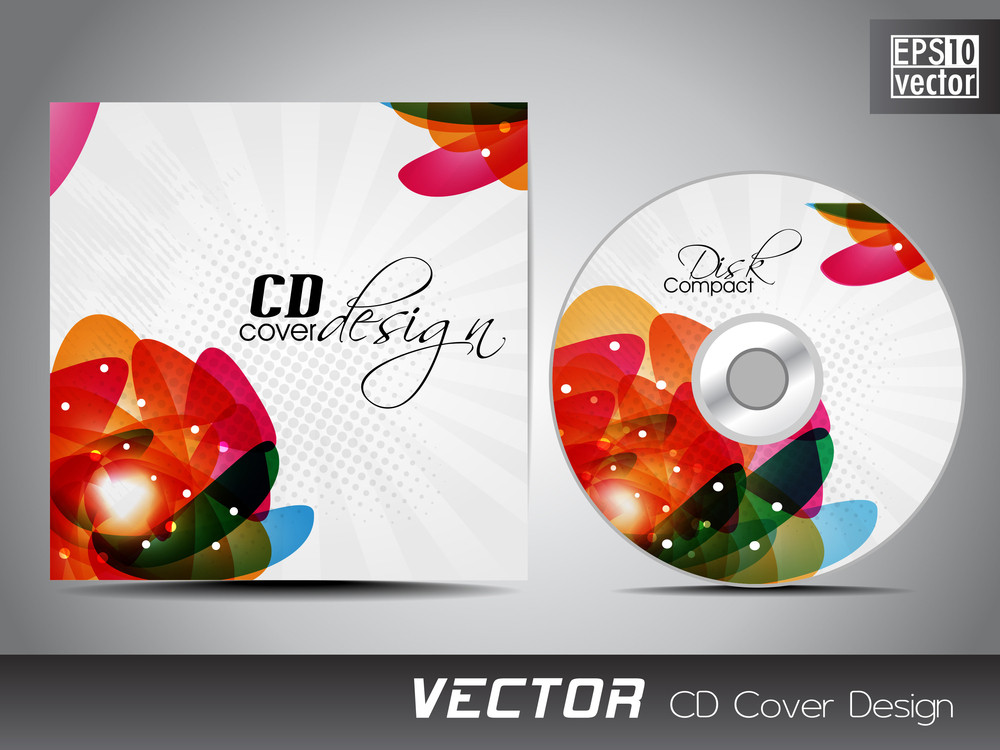 cd cover presentation design template with copy space and abstract, Presentation templates