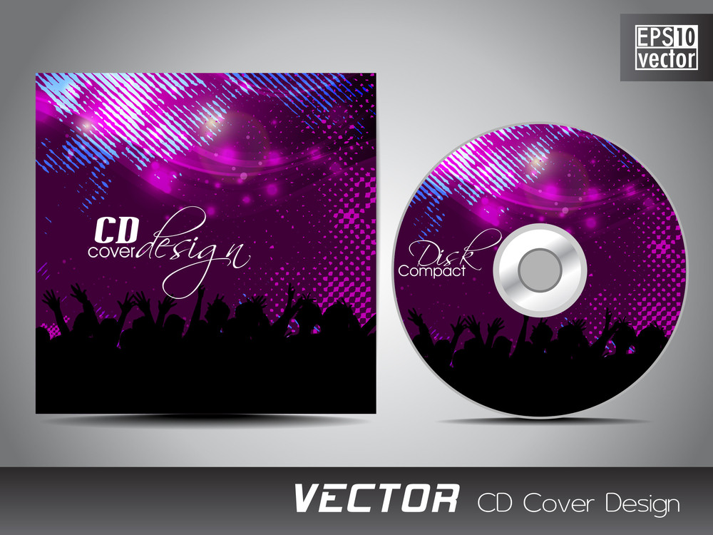 cd cover presentation design template with copy space and music concept royalty free stock image. Black Bedroom Furniture Sets. Home Design Ideas