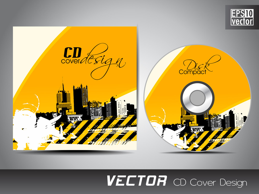 cd cover presentation design template royalty free stock image