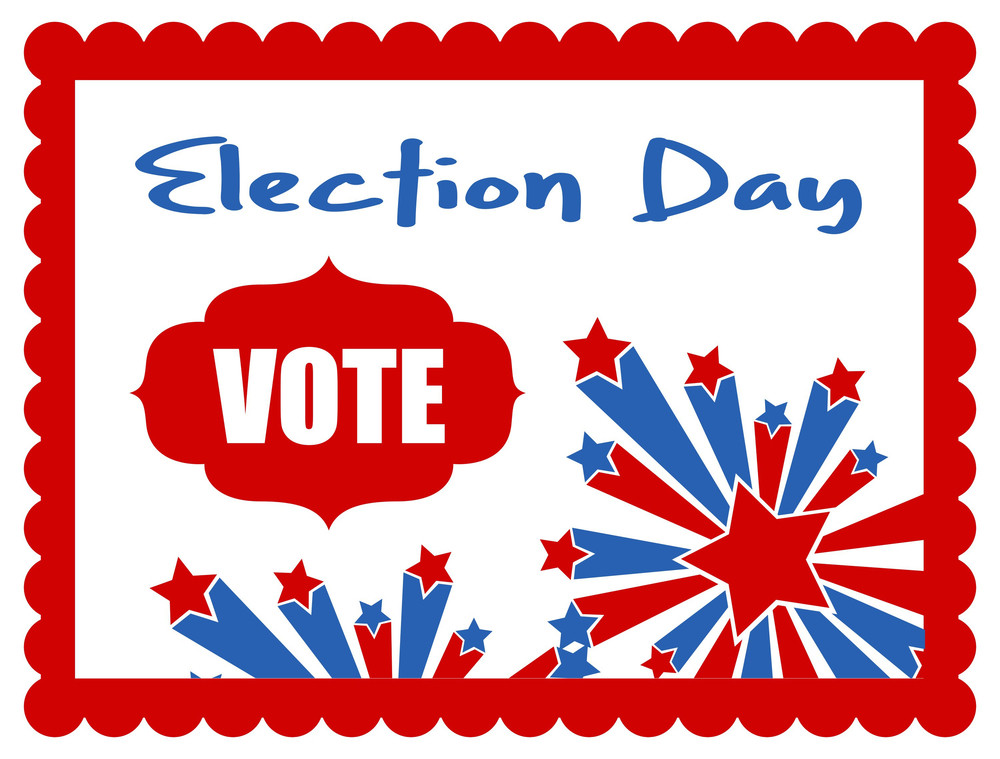Celebrating Election Day Banner  Election Day Vector Illustration