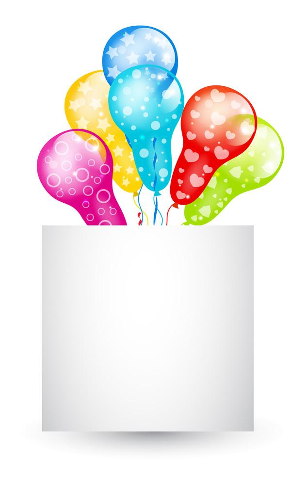 Celebration Balloons Banner
