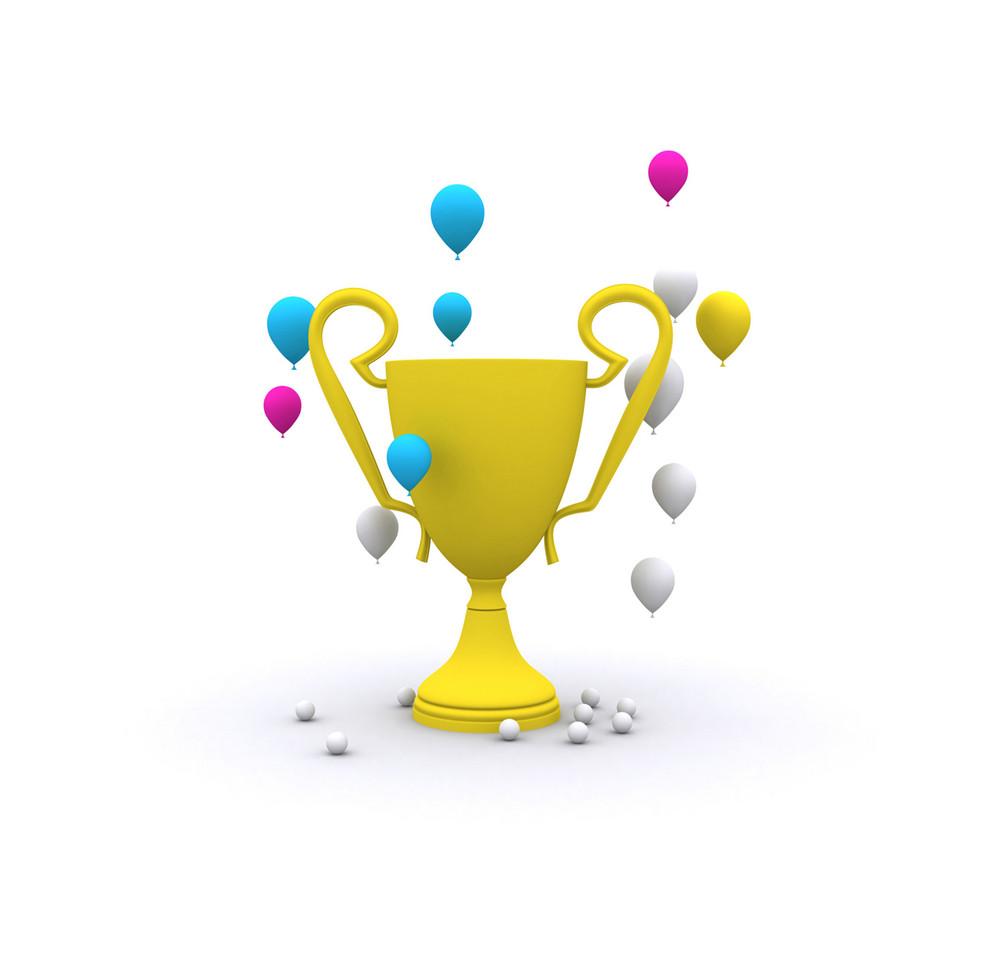 Celebration Trophy Winning