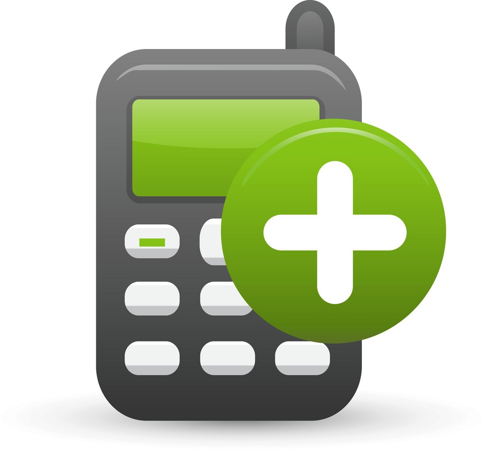 Cell Phone Add Lite Ecommerce Icon
