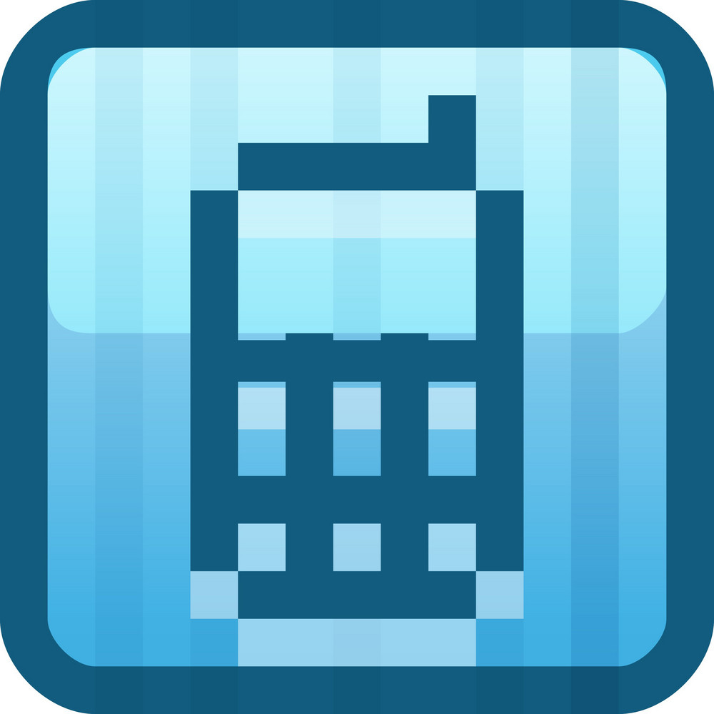 Cell Phone Blue Tiny App Icon