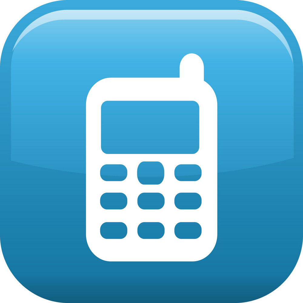 Cell Phone Elements Glossy Icon