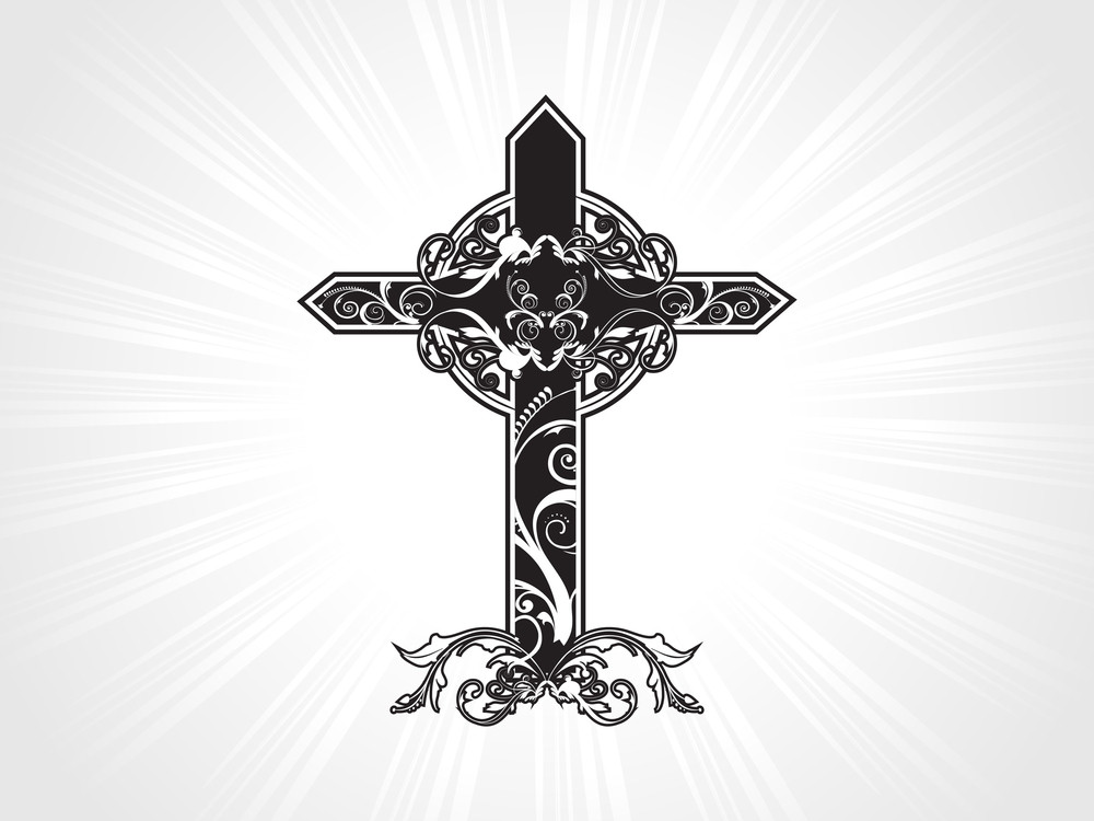 Celtic Pattern Isolated Cross