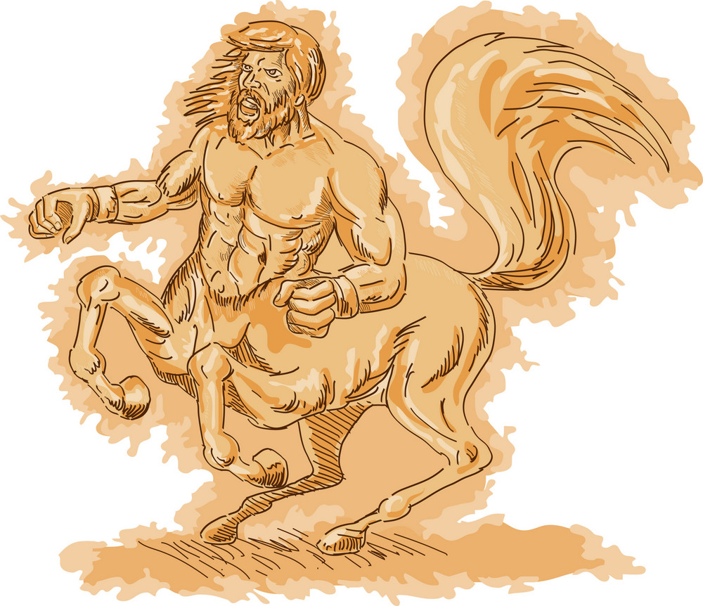 Centaur Angry And Rearing Up