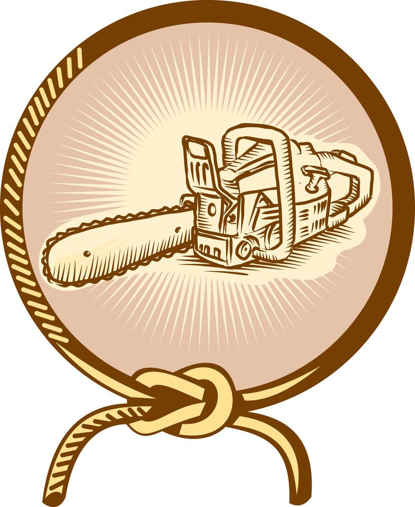 Chainsaw Lasso Rope Retro