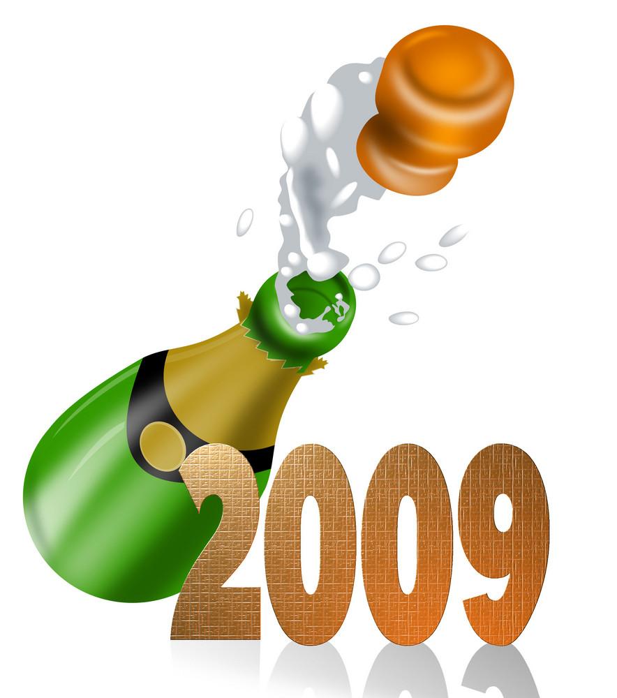 Champagne Bottle 2009