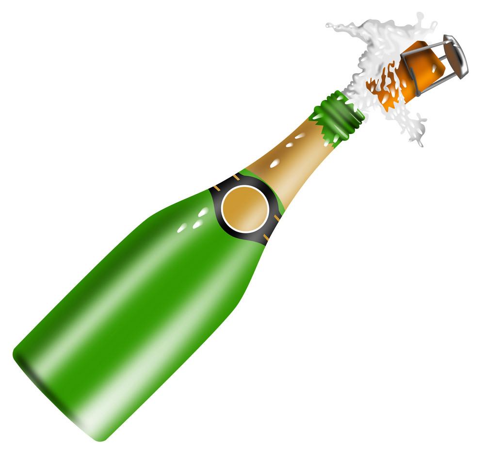 Champagne Bottle Open