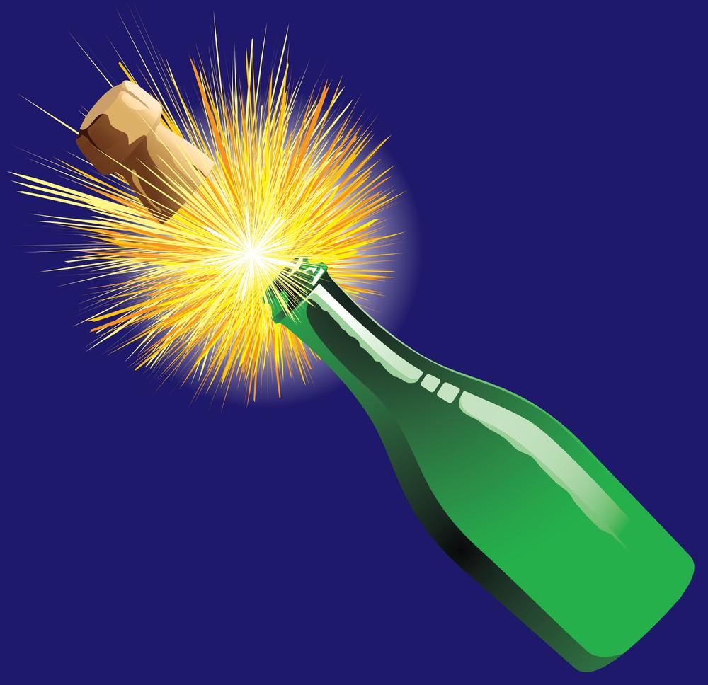 Champagne. Vector Illustration