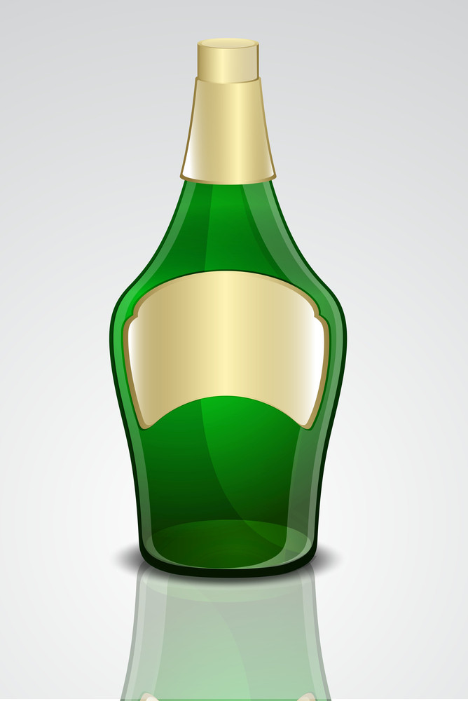 Champaign Bottle Vector Design
