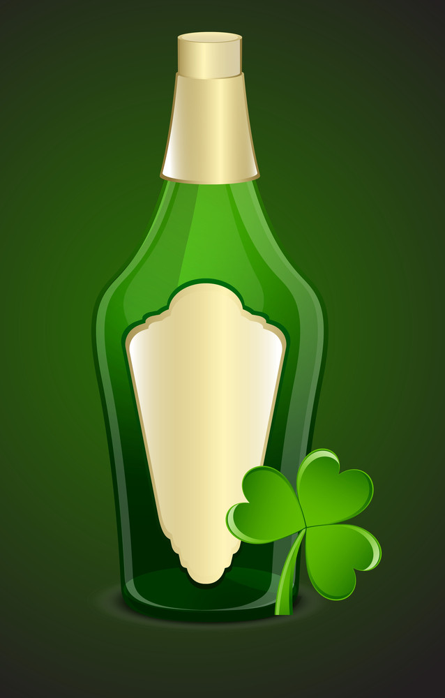Champaign Bottle With Clover Leaf
