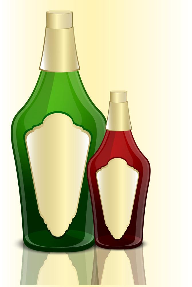 Champaign Bottles Vector Designs