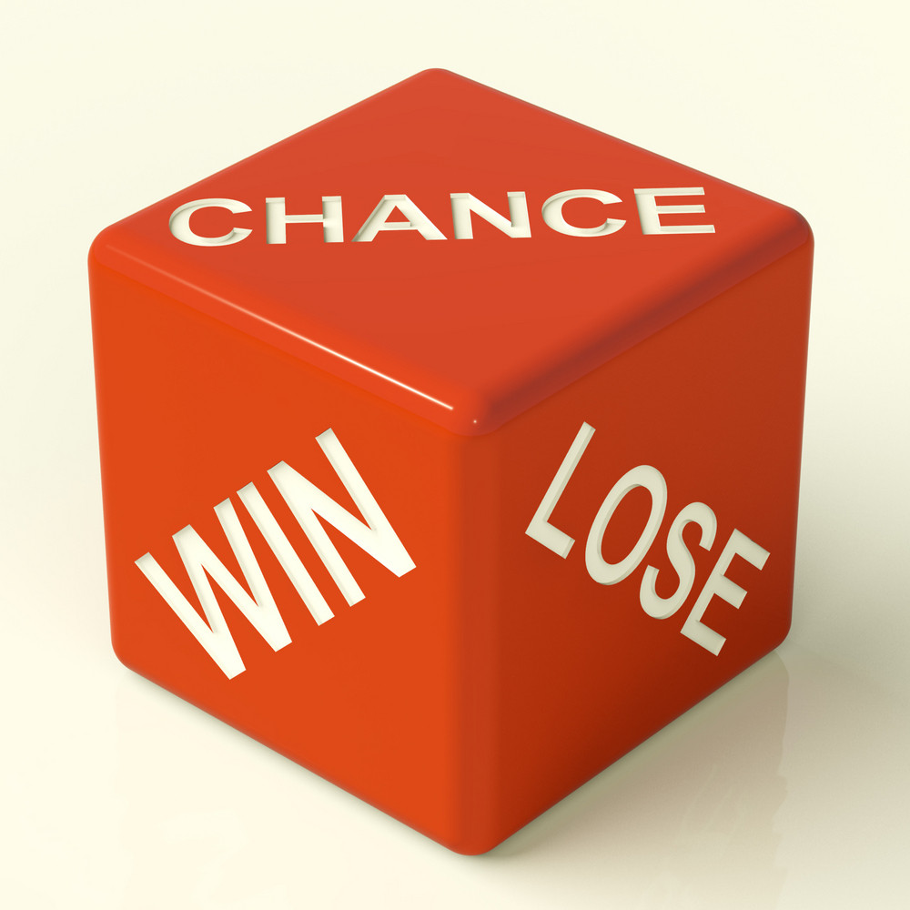 Chance Win Lose Dice Showing Luck And Opportunity