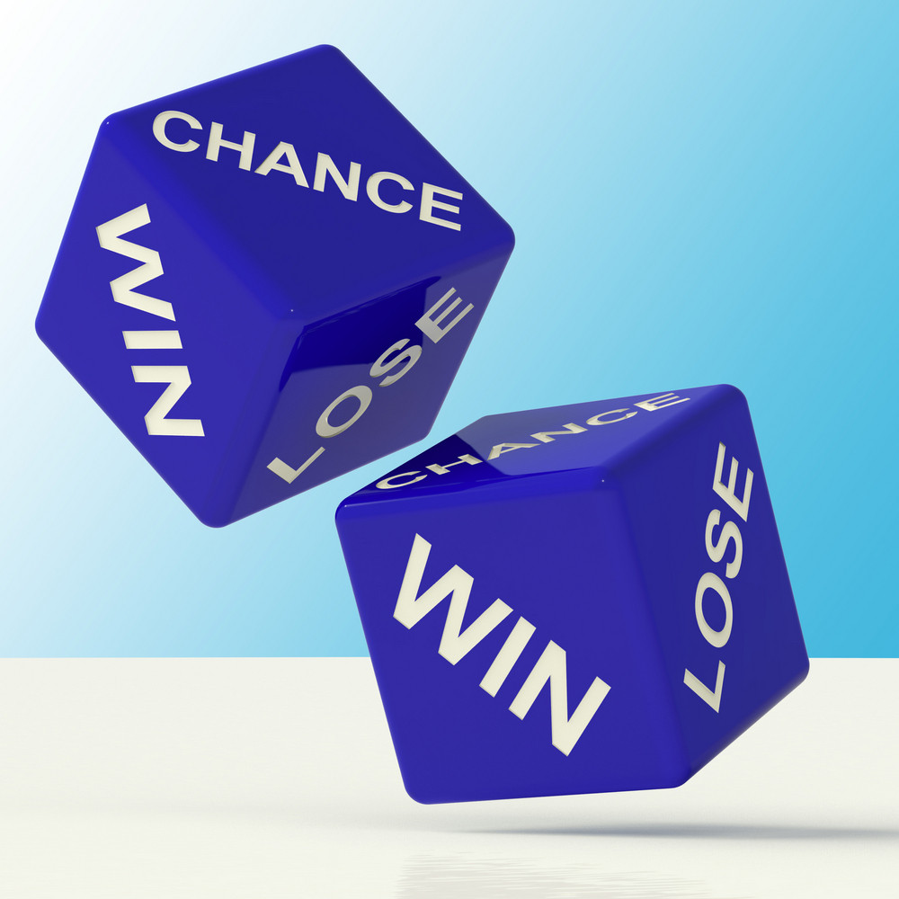 Chance Win Lose Dice Showing Luck