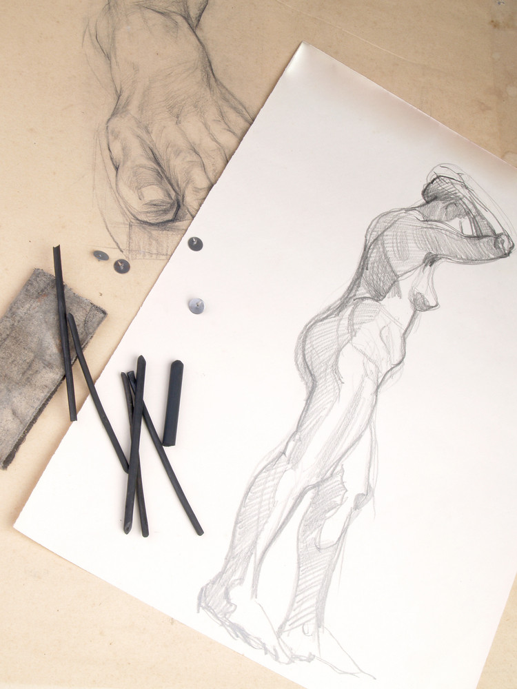 Charcoal Academical Anatomy Sketches Anathomy And Charcoal