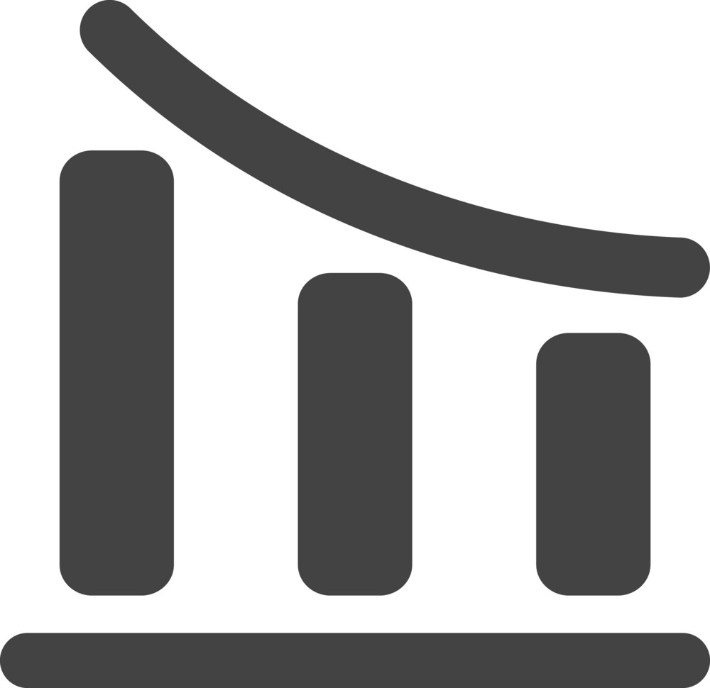 Chart  2 Glyph Icon