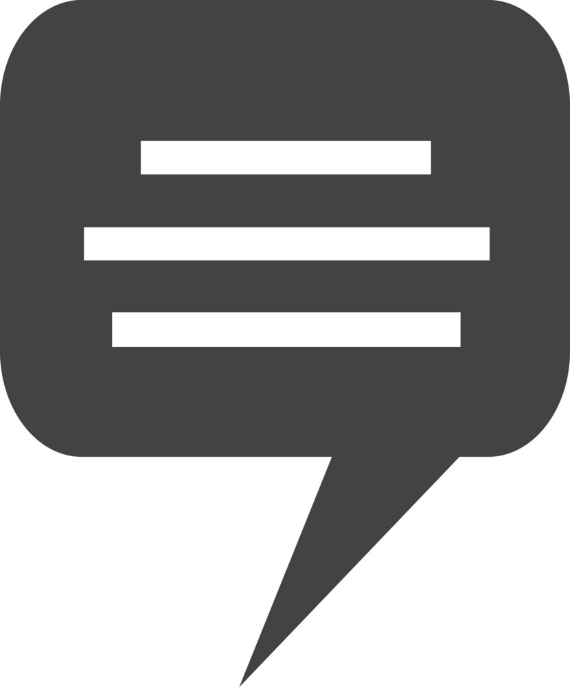 Chat 1 Glyph Icon