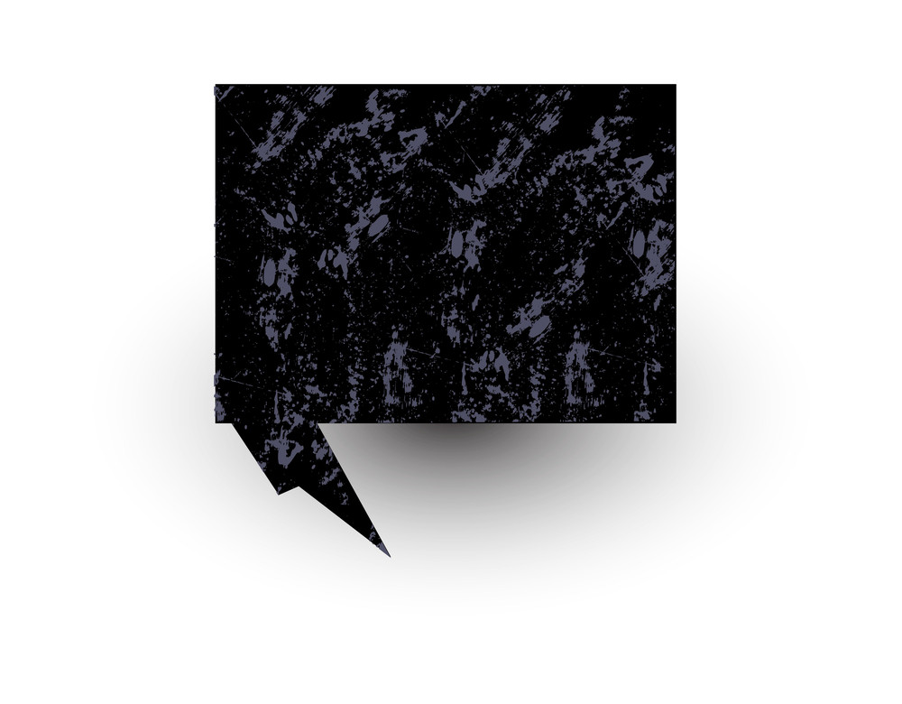 Chat Bubble Grunge Banner