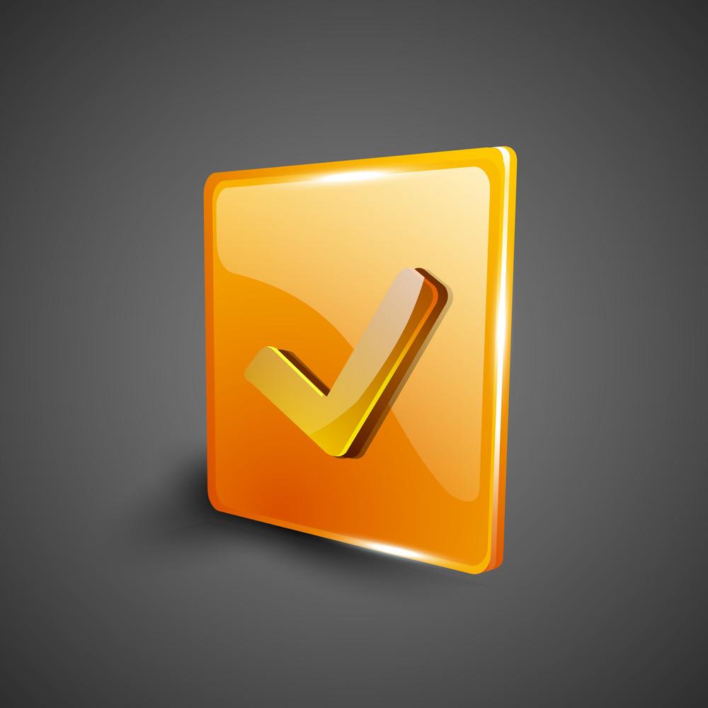 Check Mark Validation Symbol Icon Set.